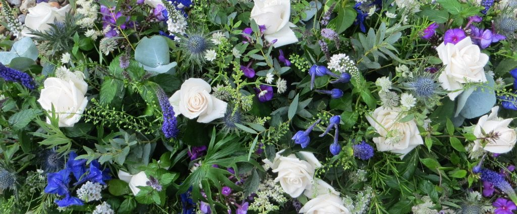 coffin funeral flowers